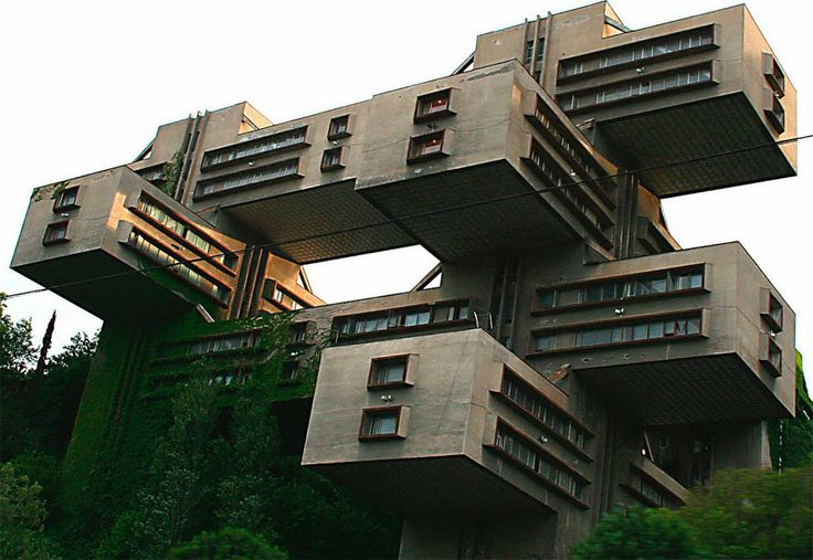 Soviet architecture: Offices of the Bank of Georgia, built in 1975 for the Georgian Ministry of Highway Constructions. Via http://www.darkroastedblend.com