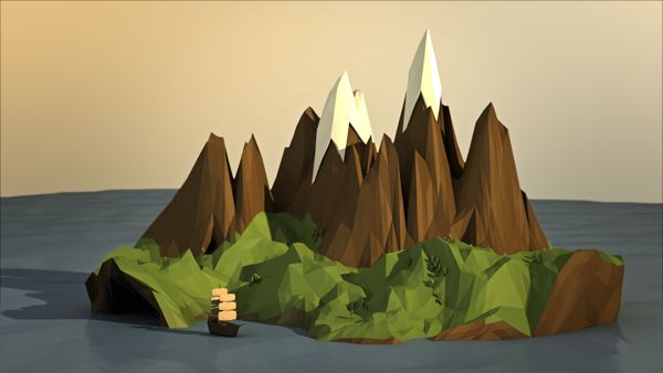 Rocky Low Poly on Behance