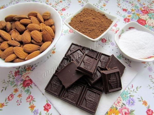 Миндаль в шоколаде, рецепт с фото.