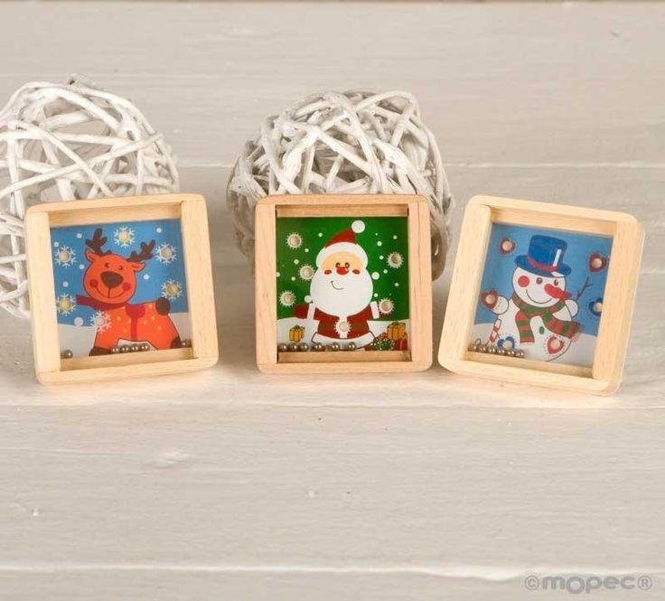 Regalos para ni os original juego habilidad en madera - Cajas con motivos navidenos ...