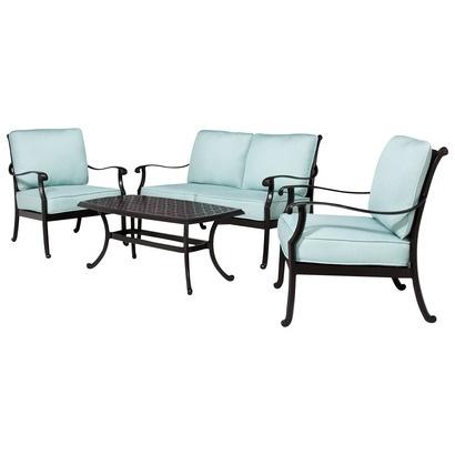 Smith U0026 Hawken® San Rafael Metal Patio Conversation Furniture Collection    Mist.Opens In