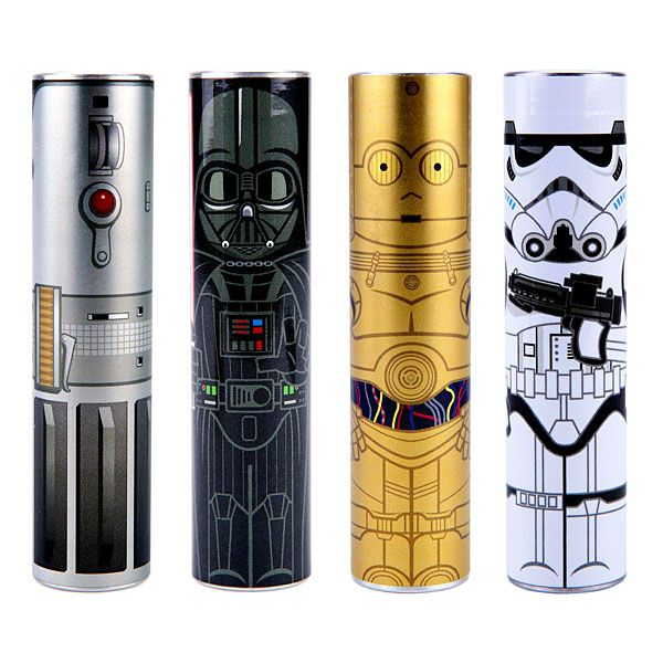 Charge your gadgets and smartphones in style with the MimoPowerTube- Star Wars Series. These fun power banks are from a galaxy far, far away.  Choose from C-3PO, Darth Vader, lightsaber or a Stormtrooper. Each comes with a USB charging cable with multiple tips for your gadgets.    MimoPowe