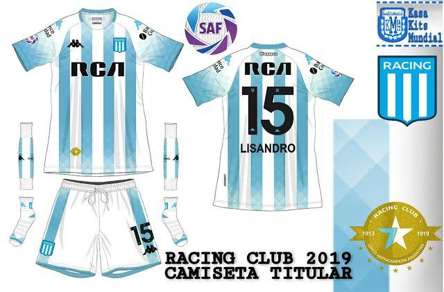 Casakits Mundial Nueva Camiseta De Racing Club 2019 Arg Camisetas Camisetas De Fútbol Club