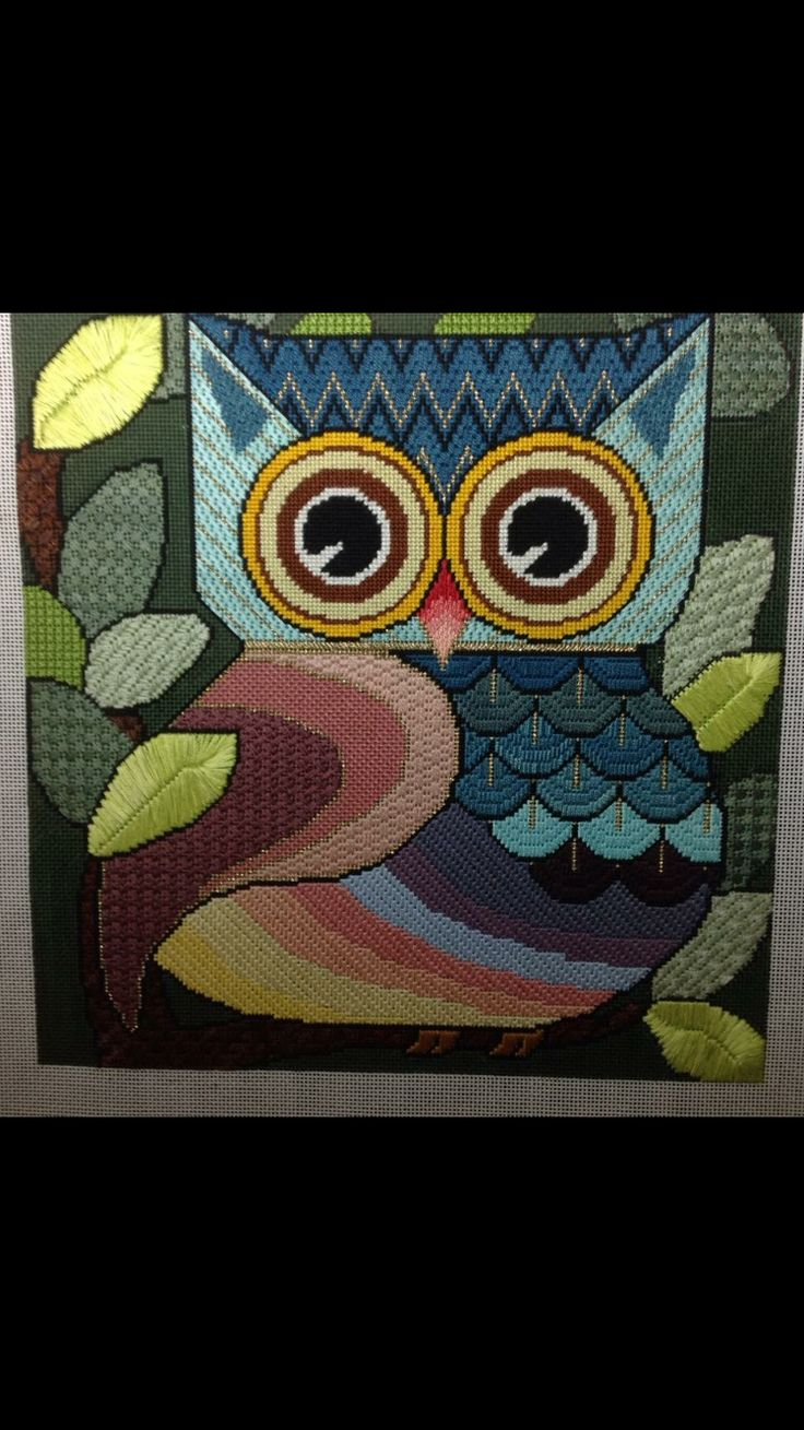 Stitch ideas for my Owl canvas