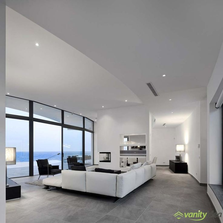 Amazing The Livingroom Like The Rest Of The House Is In White, Brown And Grey Design Ideas