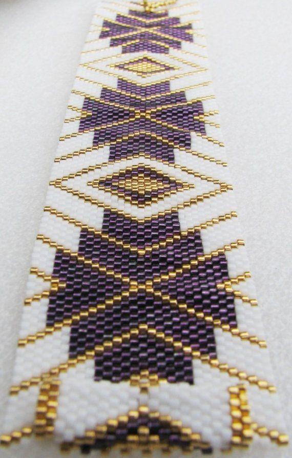 Enchantement élégant Bracelet de manchette Peyote par SandFibers