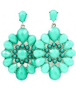 mint earrings.: Mint Green, Color, Turquoi Earrings, Mint Earrings, Turquoise Earrings, Turquoi Jewelry, Statement Earrings, Something Blue, Dangle Earrings