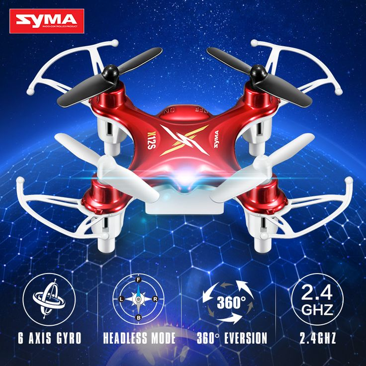 Syma X12S 4CH 6-Axis Gyro RC Helicopter Drones Quadcopter Mini Dron without Camera Indoor children Toy gift-Red #Affiliate