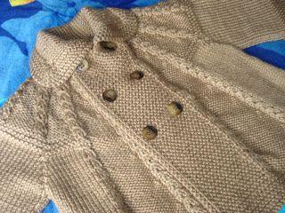 TRICO y CROCHET-madona-mía: Abrigo de bebe de 1 a 3 años modelo a tricot,