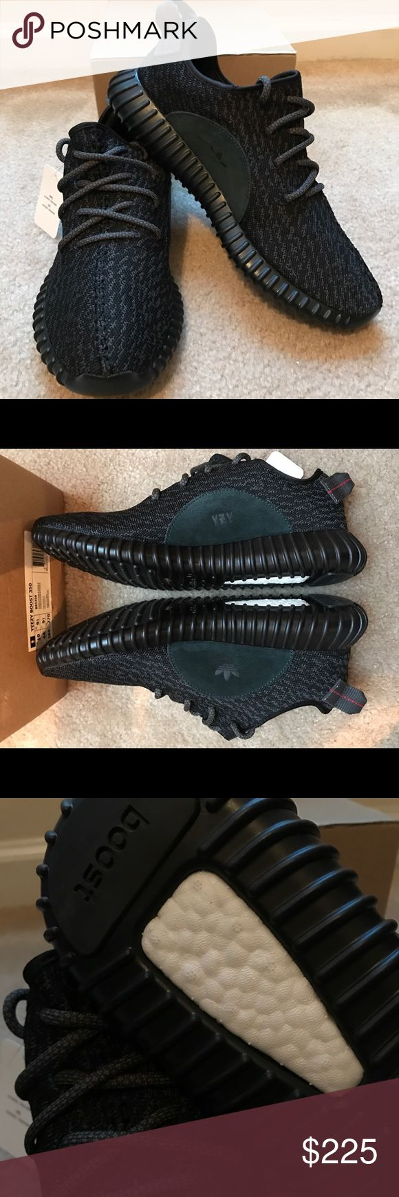 "Yeezy Boost 350 ""Pirate Black"" Yeezy Boost 350 ""Pirate Black""  Men's Size 10 UA Highest Quality, most comfortable shoes you'll find. Boost material is super soft and responsive. Comes with original box. Fast Shipping! Yeezy Shoes Athletic Shoes"