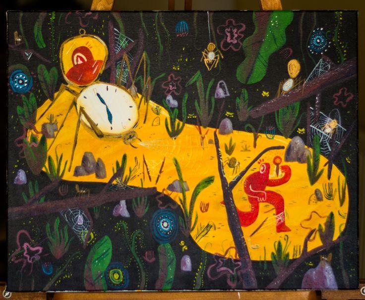 """CALVERT: """"Las aventuras del hombre que escapa de las telarañas del tiempo"""" Illustration / Ilustración"""