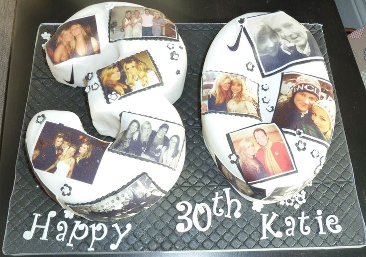 And the photos on this 30th birthday cake are edible too. 30th numbers birthday cake