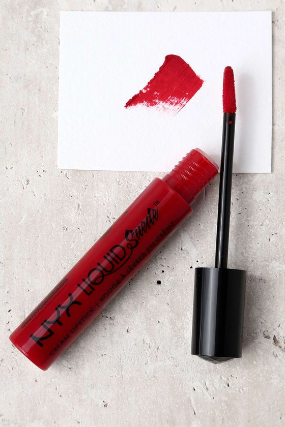 Just a swipe of the NYX Kitten Heels Red Liquid Suede Cream Lipstick will bring instant glam and vibrant color to your lips! This creamy, liquid lipstick glides on with ease, and dries to a stunning, matte finish. Ingredients: Isododecane, Petrolatum, Trimethylsiloxysilicate, Cyclopentasiloxane, Polybutene, Dimethicone, Carnauba Wax, Cyclohexasiloxane, Kaolin, Silica Dimethyl Silylate, Glyceryl Behenate/Eicosadioate, Avocado Oil, Olive Fruit Oil, Phytosterols, Tocopherol, Glycerin, Alumi...