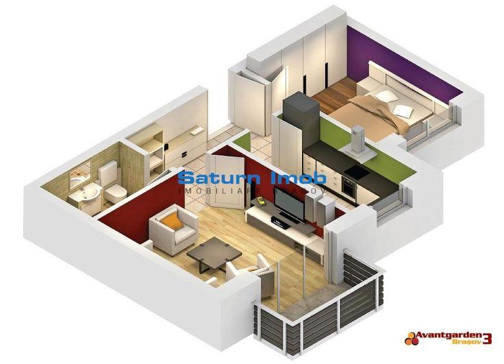 Vanzare apartament 2 camere decomandat , Avangarden 3 , Brasov