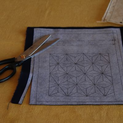 How to do sashiko stitching - simple and good tutorial