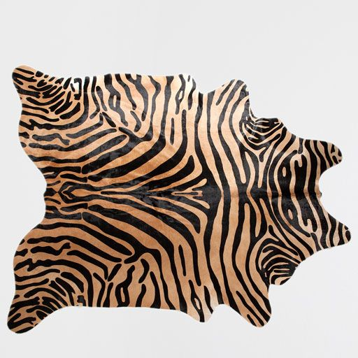 Image of the product ZEBRA-PRINT LEATHER RUG