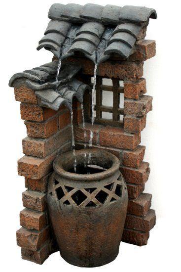 Amazon.com: Beckett Corporation 7227110 Spanish Tiles Outdoor Fountain, 33-Inch: Patio, Lawn & Garden