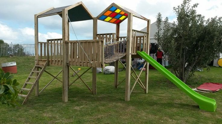 Multi-coloured Play Structure / Jungle Gym - perfect for the smaller garden.