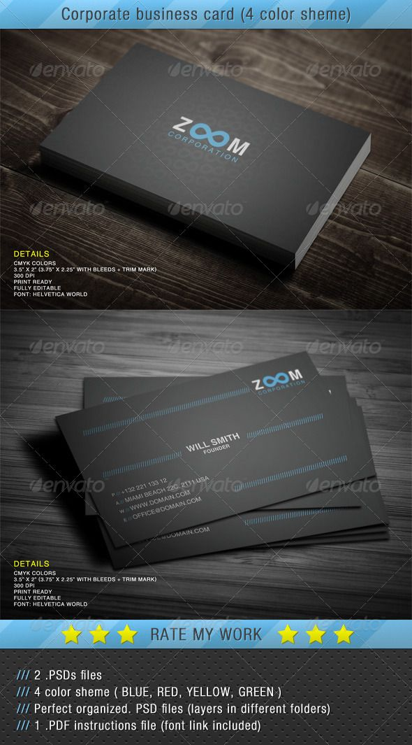 96 best print templates images on pinterest print templates corporate business card 4 color sheme reheart Choice Image