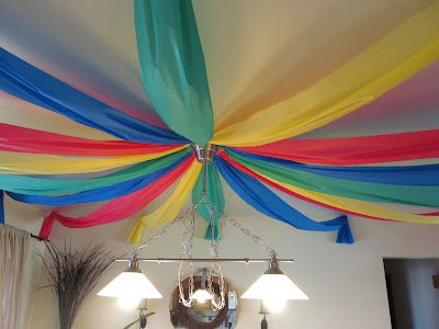 Table Cloth Ceiling Decorations DIY Pinterest