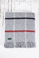 Tweedmill Check Blanket in Grey at Urban Outfitters