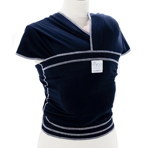 Littlemico Baby Wrap Carrier Classic, Navy Blue. http://www.littlemico.com/product/mico-wrap-carrier-classic-navy/