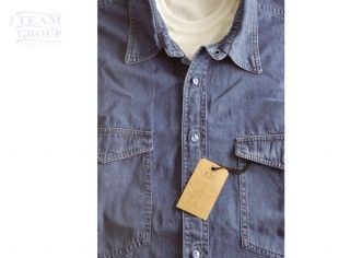 Camisa de jean denim