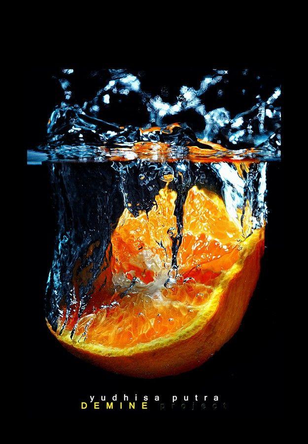 """""""Orange Splash... """" by Yudhisa Putra, via 500px."""