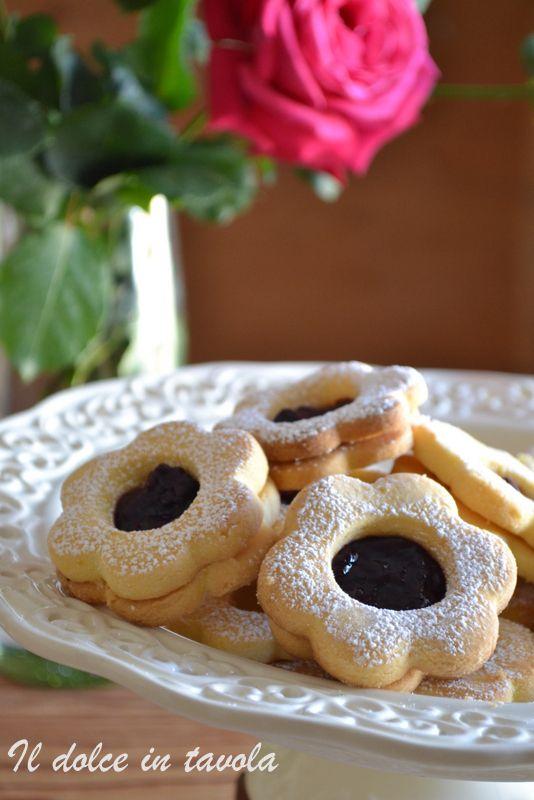 Biscotti occhio di bue con farina di riso