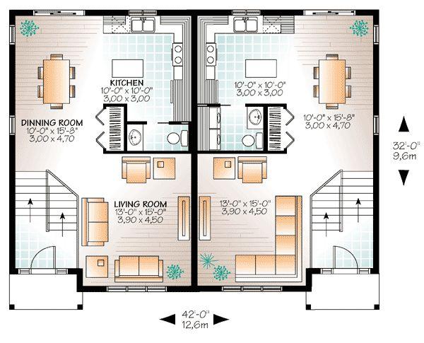 59 best Modèles de maison Jumelée, Plans de Duplex, Plans de Triplex - plan de maison d gratuit