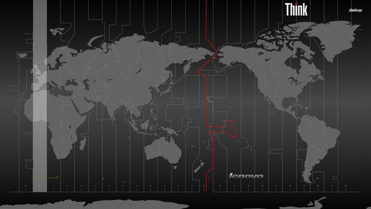 Wallpaper-Sammlung mit Thinkpad als Thema - Seite 9 Geek - fresh interactive world map desktop background