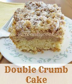 Double Crumb Cake if your favorite part of crumb cake is the crumb, then this is your cake!