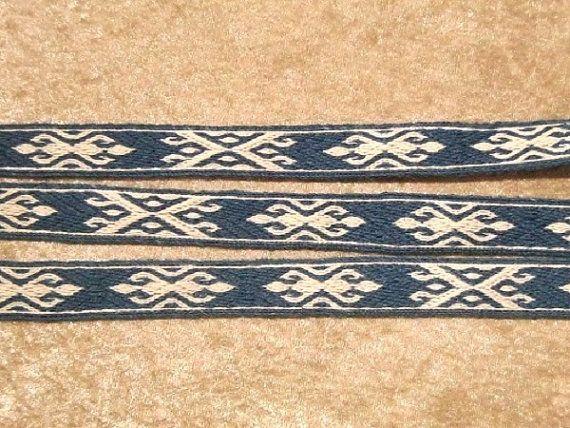 Tablet weaving braid, persian, 100% linen, Tablet weaving, Card weaving,