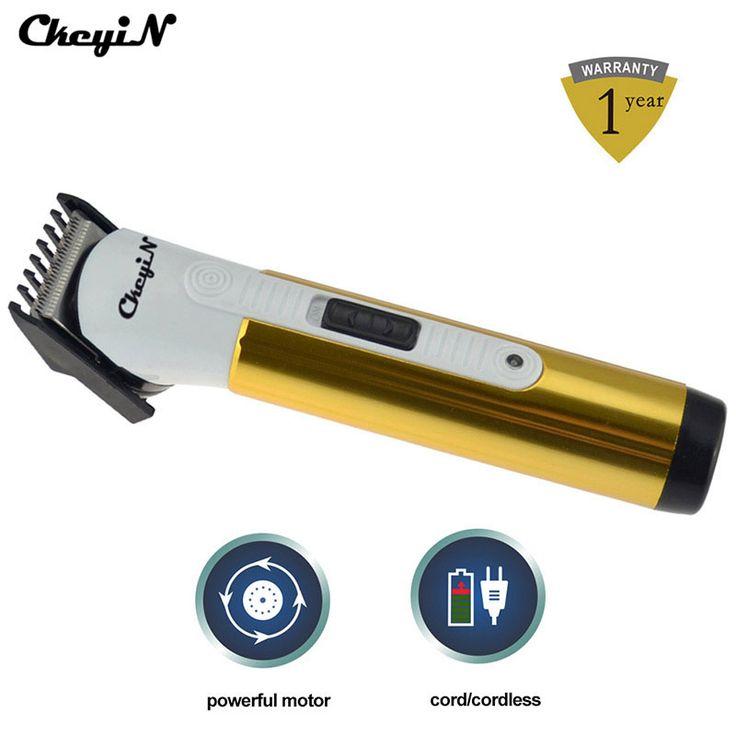 Electric Hair Clipper Trimmer Professional Cutter Titanium Blade Beard Hair Shaver Razor Cutting Machine Haircut Battery Powered