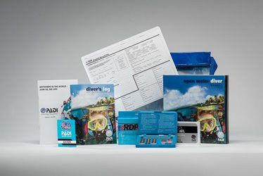 PADI Open Water Crew Pack with eRDPml and blue diver log