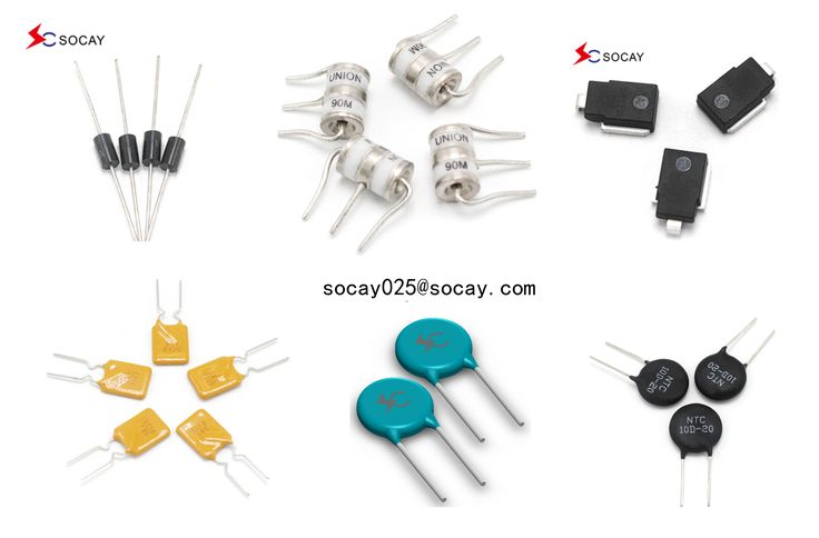 GDT , TVS , ESD , PPTC , SPG , MOV , inductor, ferrit .