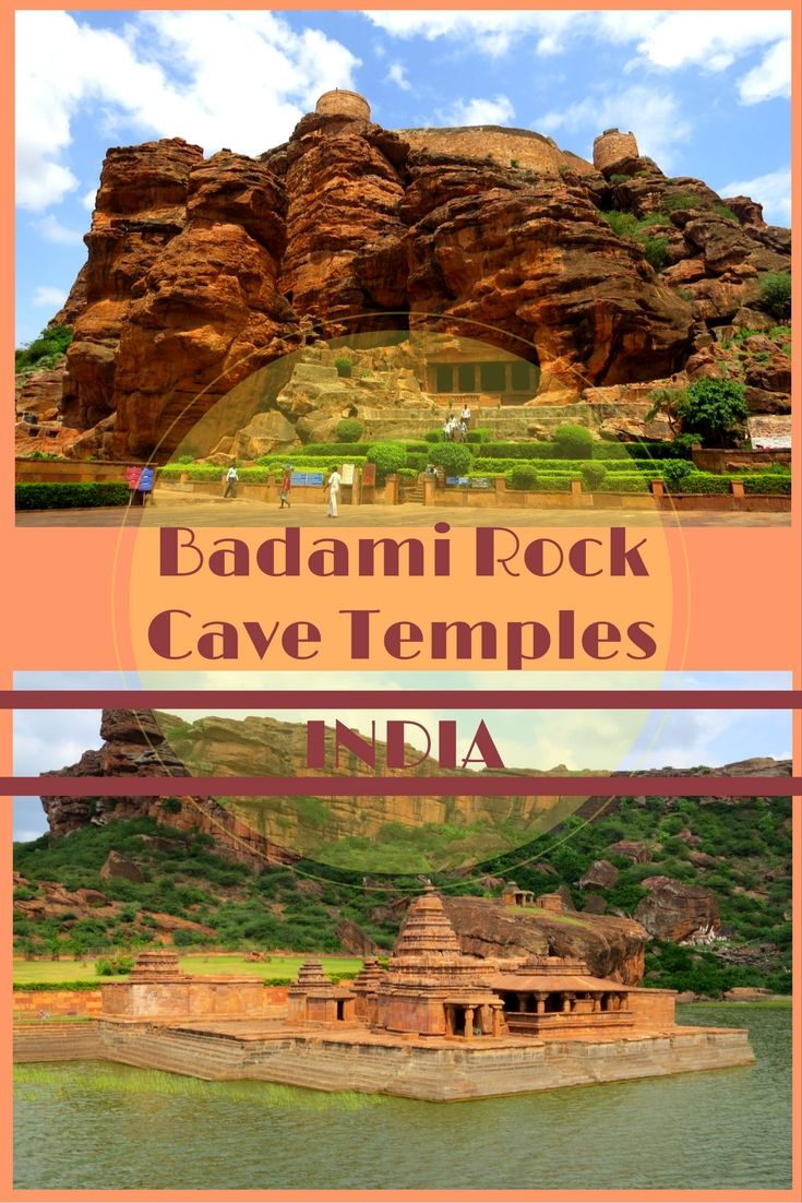 Once the capital of the Chalukya Dynasty Badami is famous for its magnificent rock cave temples carved from the massive rugged sandstone cliffs.