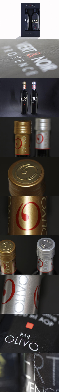 Design de boîtes cadeaux et de bouteilles pour les huiles d'olive Olivo