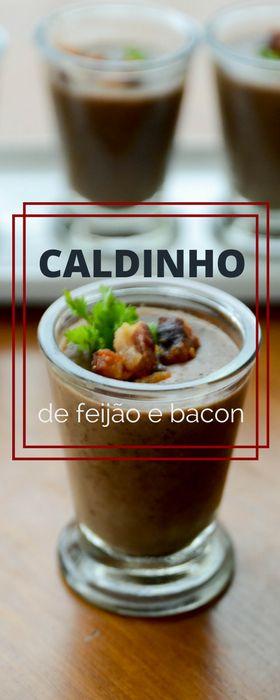 Receita de Caldinho de feijão preto com bacon