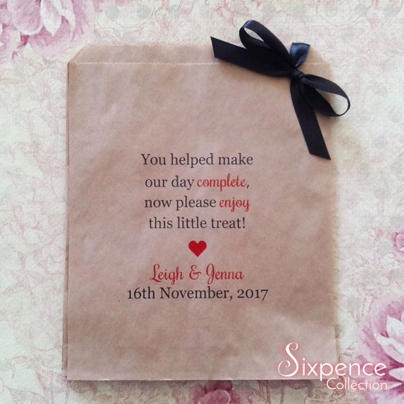 Our Day Complete Personalised Kraft Brown Paper Lolly Bags x