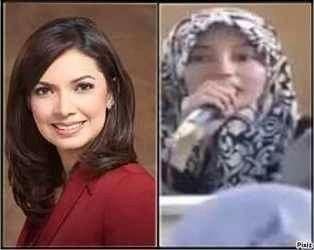 Yang tidak pake kerudung ini namanya Najwa shihab putri Kiai Qorais Shihab. Sedangkan yang pake kerudung ini namanya Rufaidah shihab putri Habib Riziq Shihab.  Konon katanya kedua wanita ini adalah cucu baginda Nabi Muhammad dari marga yang sama yaitu marga SHIHAB.  Pertanyaanya yang manakah yang asli keturunan Nabi?  A. Yang pake jilbab. B. Yang mengumbar aurat.  Tolong dijawab dengan sejujurnya di kolom komentar...syukron !