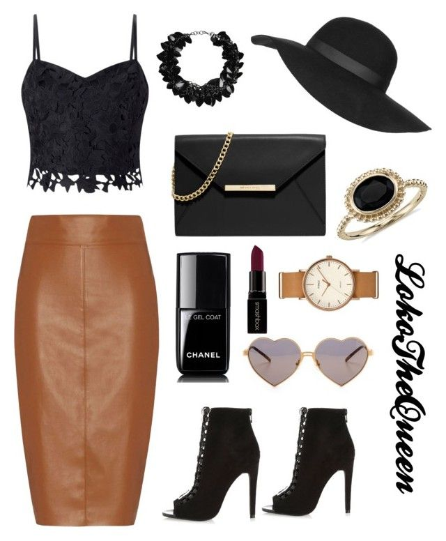 """Untitled #12"" by loko-kganyago on Polyvore featuring Bailey 44, Lipsy, MICHAEL Michael Kors, First People First, Chanel, Wildfox, Smashbox, Timex, Topshop and Blue Nile"