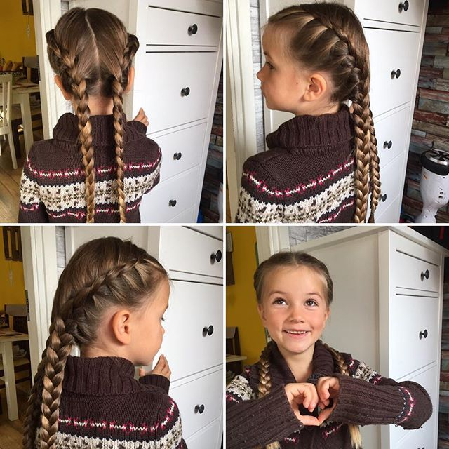 Saturday in our house equals lazy morning and a long breakfast ☺️ So she's ready now when the time is noon ❤️ Lace braids into French braids felt easy enough #braidsforkids #braidsforgirls #braidsforlittlegirls #braidsbyme #braidsofinstagram #braidsfordays #braids #instabraid #instahair #lrbfeatureme #justforfun #lacebraid #frenchbraid #braided #braidedstyles #braidedhairdontcare #braidedhair #braidedhairstyle #fläta #flätor #hår