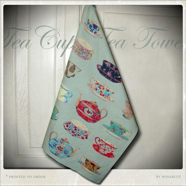 Tea Cups tea towel, £7.50