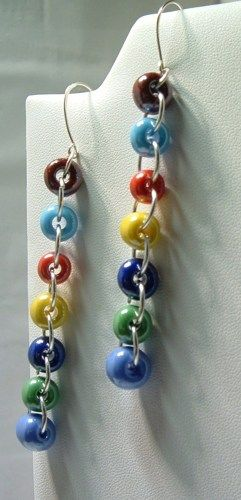 Glass  Pony Bead Earrings   Tracines - Jewelry on ArtFire