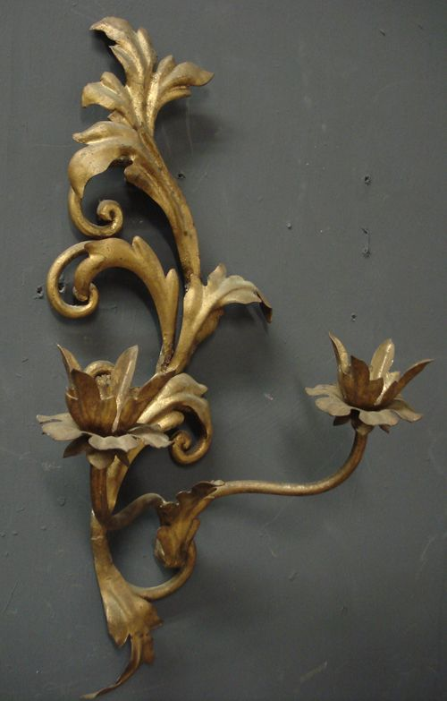 One from a pair of vintage French wall lights from www.jasperjacks.com