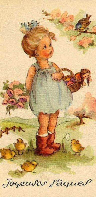 Vintage Easter illustration, artist unknown