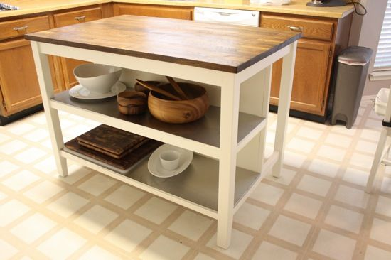 Ikea hack stenstorp kitchen island taches d tournement for Bar escamotable cuisine