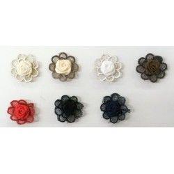 Λουλουδάκι ραφτό με τούλι για διακόσμηση,επιδιόρθωση ενδυμάτων αλλα και υποδημάτων.Διάφορα χρώματα.