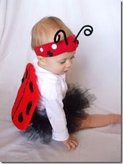 Disfraz casero: Disfraz casero de mariquita para bebé